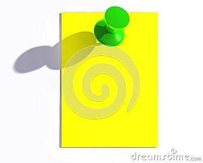 Glossy green pin