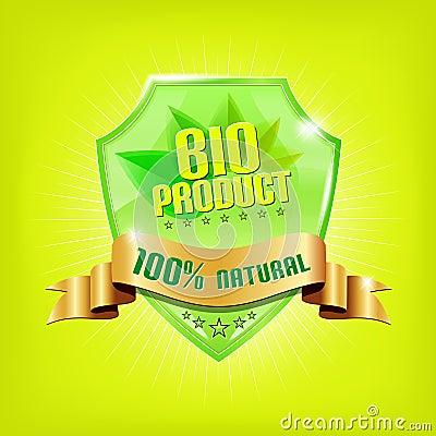 Glossy green shield - BIO PRODUCT