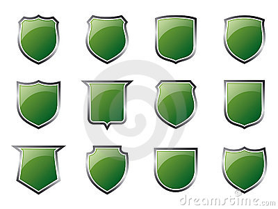 Glossy Green Shields