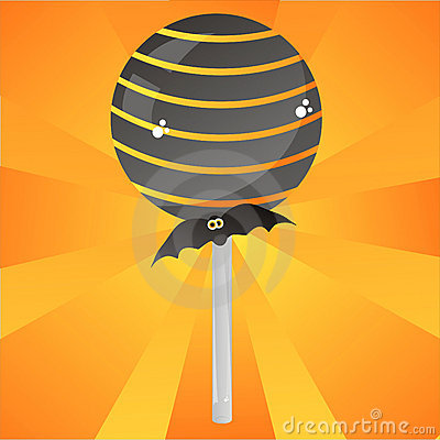Glossy halloween lollipop background