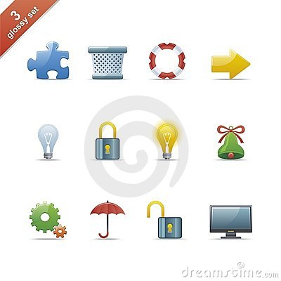Glossy icon set 3