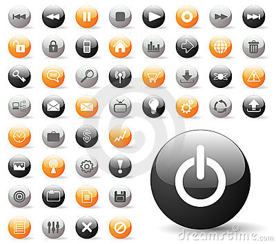 Glossy Icon Set for Website Applications
