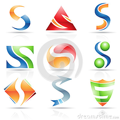 Glossy Icons for letter S