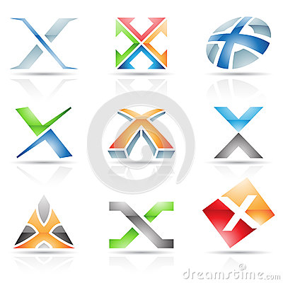 Glossy Icons for letter X