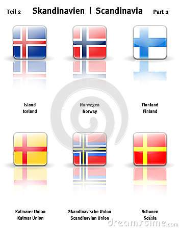 Glossy  icons Scandinavia (Part 2)