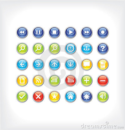 Glossy icons for your website