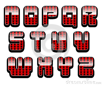 Glossy letters set 2