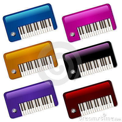 Glossy Little Vintage Keyboards Icons