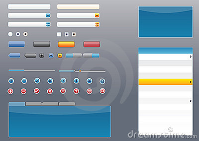 Glossy Mac, Vista, iPhone style GUI/UI Elements