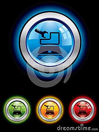 Glossy maintenance button
