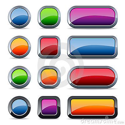 Free Glossy Metal Buttons Royalty Free Stock Image - 11535286