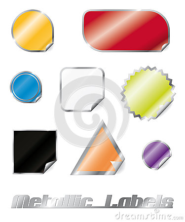 Glossy Metallic Stickers Collection