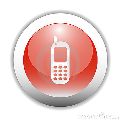Free Scratch Cards >> Glossy Mobile Phone Sign Icon Royalty Free Stock Photography - Image: 7541657