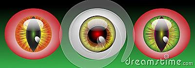 Glossy monster eyeballs