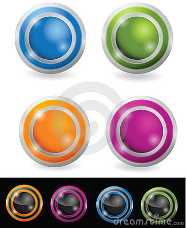 Glossy orb button