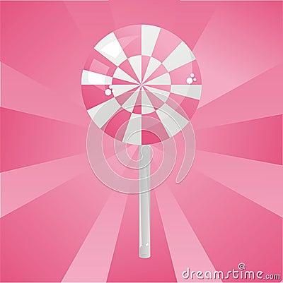 Glossy pink lollipop background