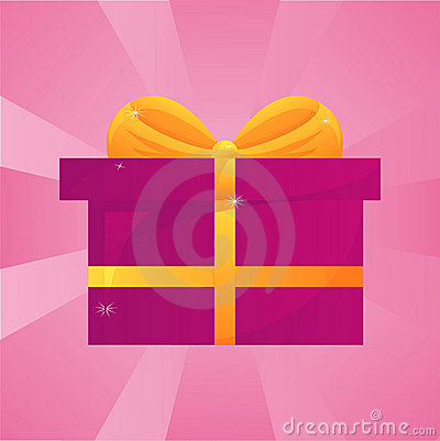 Glossy present background