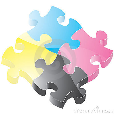 Free Glossy Puzzle Pieces Royalty Free Stock Photo - 8722935