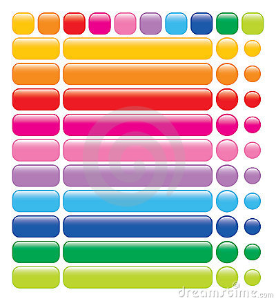 Free Glossy Rainbow Web Buttons Stock Photo - 2963590