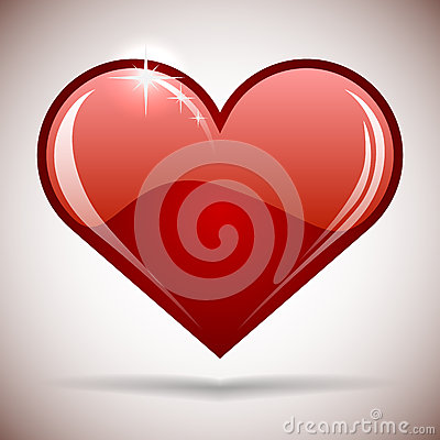 Glossy red heart icon