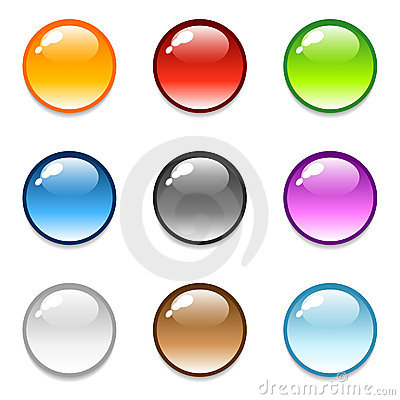 Free Glossy Round Button Icons Royalty Free Stock Photos - 5171928