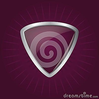 Glossy shield emblem