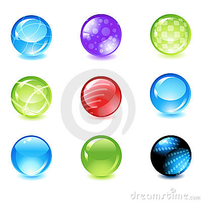 Free Glossy Spheres Stock Photography - 8550202