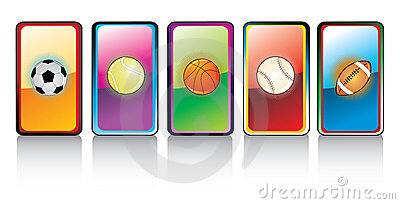 Glossy sports ball