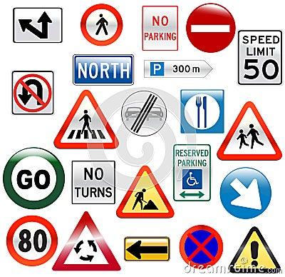 Glossy Street Signs