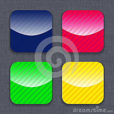 Glossy striped colorful app icon templates
