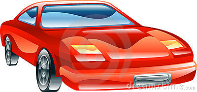 Glossy stylised sports car icon