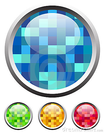 Glossy textured icons