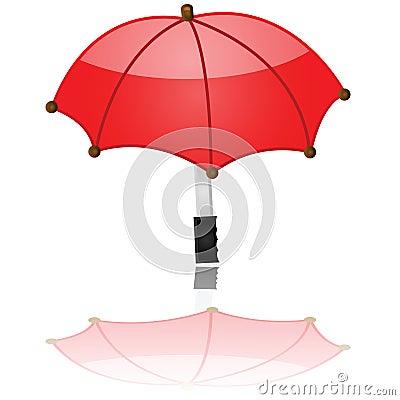 Glossy umbrella