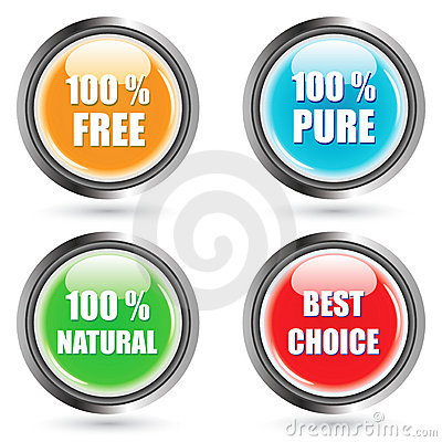 Glossy Vector Button Set -EPS Vector-