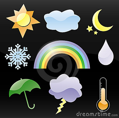 Glossy Weather Icons