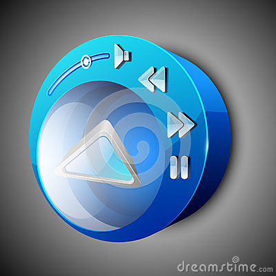 Free Glossy Web 2.0 Music Icon Royalty Free Stock Images - 26233519