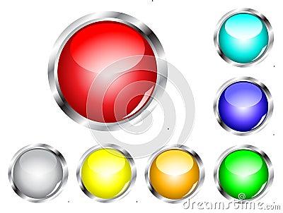 Glossy Web Button Set
