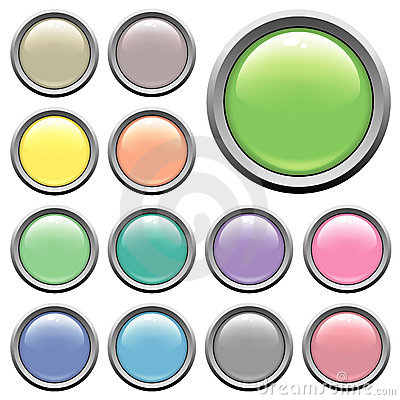 Free Glossy Web Buttons Stock Image - 2785341