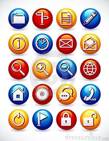 Glossy web icons