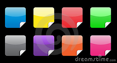 Glossy web stickers