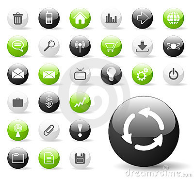 Free Glossy Website Or Application Icons Stock Photo - 7800220