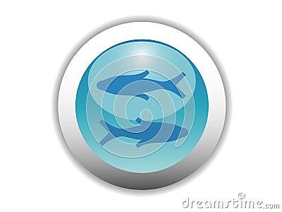 Glossy Zodiac Button Icon