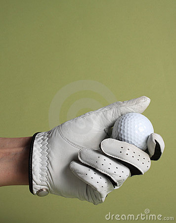 Free Glove And Ball Golf Royalty Free Stock Photos - 22728998