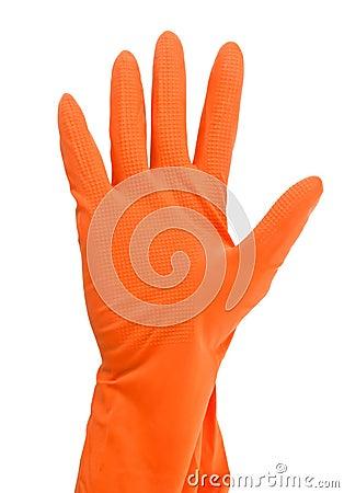 Glove on hand