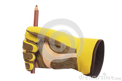 Glove and pencil