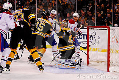 Glove Save Tuukka Rask. Editorial Image