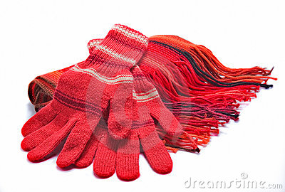 Gloves and a scarf