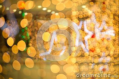 Glow christmas lights with ball and star