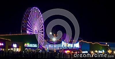Glow festival Santa Monica Editorial Stock Photo