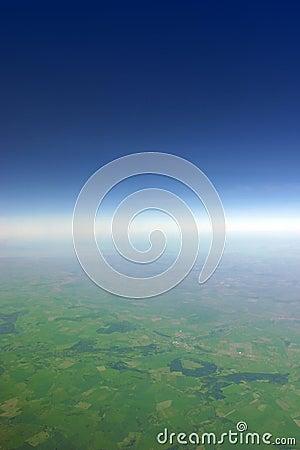Glow horizon line